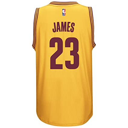 Amazon.com   adidas Lebron James Men s Gold Cleveland Cavaliers ... a62b13aaf
