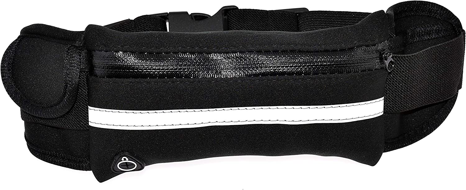 Marathon Travel Gym phone holder for running with Headphone Hole,workout Waist belt Bag for Jogging Cycling Hiking GRACIAS HOME Running Belt for phone Running