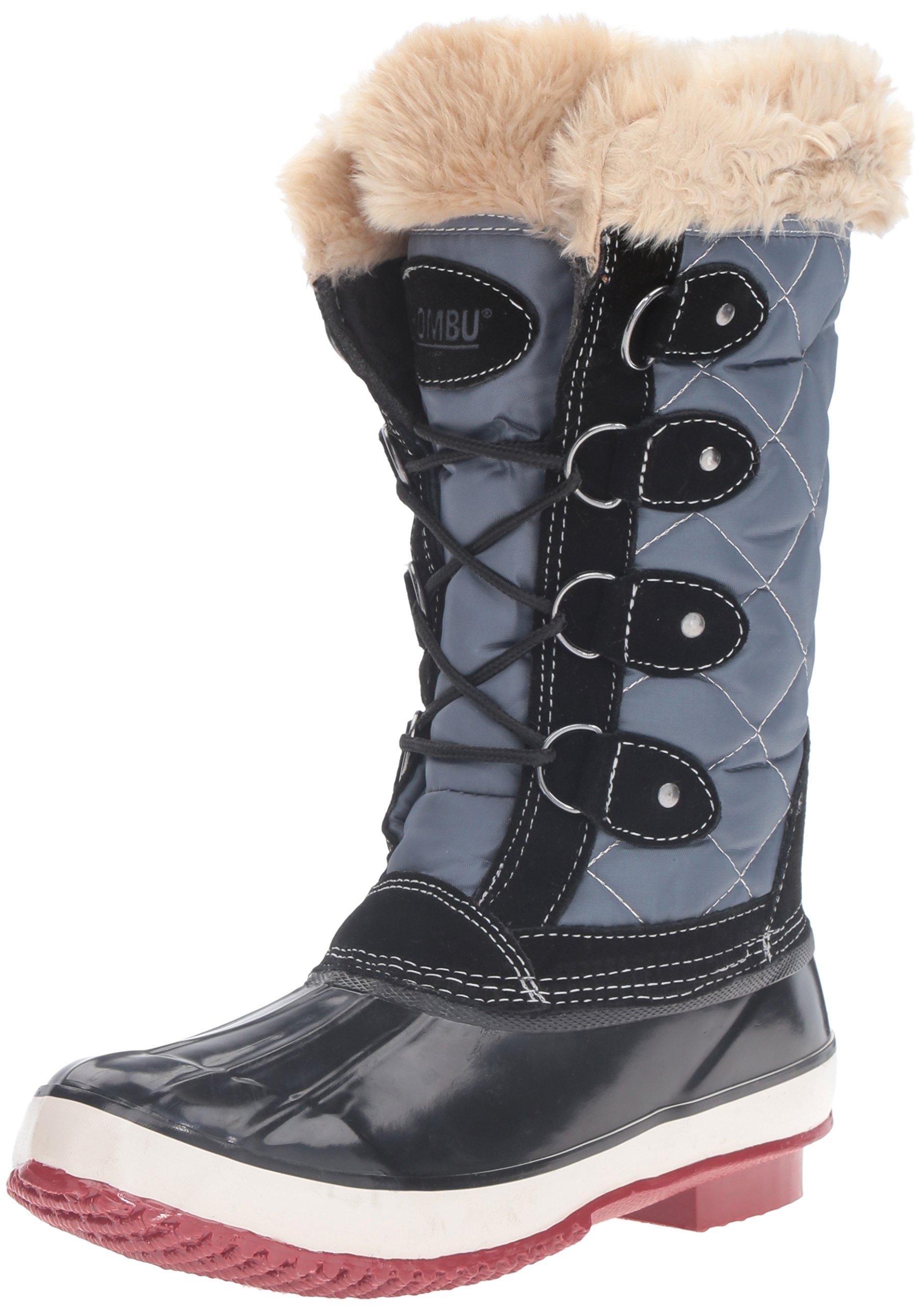 Khombu Women's Andie Snow Boot, Black, 8 M US