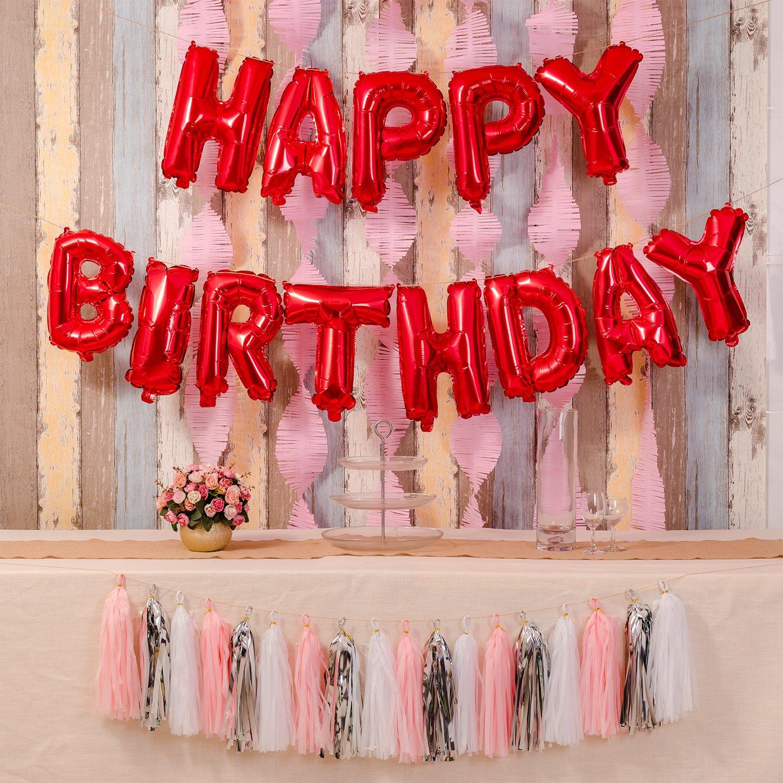 Amazon.com: Happy Birthday Balloons,16 Inch Cute Colorful Foil ...