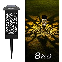 OxyLED Solar Path Lights Outdoor, 8 Pack LED Garden Pathway Lights Solar Powered, Decorative Landscape Lighting Security Light Auto On/Off Dusk to Dawn for Lawn, Patio, Yard, Halloween, Christmas (Upgrade)