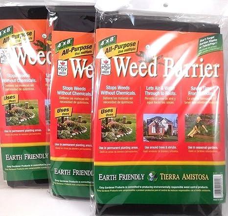 Lot Of 3 Weed Barrier Blocker All Purpose Garden Fabric 4u0027x8u0027 X3 Total