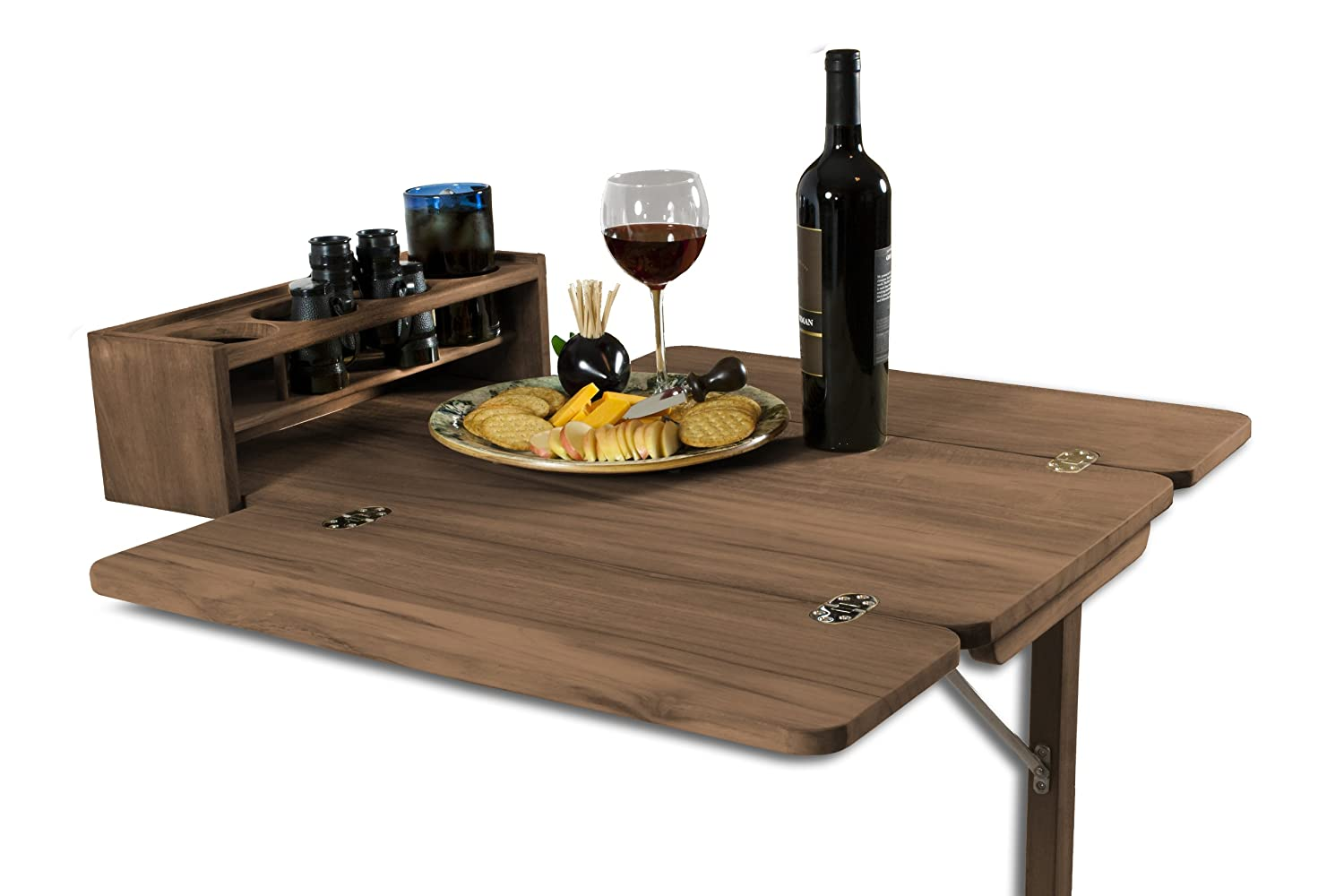 Amazon SeaTeak Cockpit Table with Folding Leaves and