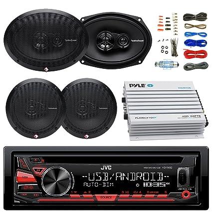 JVC kdr480 Radio de coche USB AUX Reproductor de CD Receptor ...