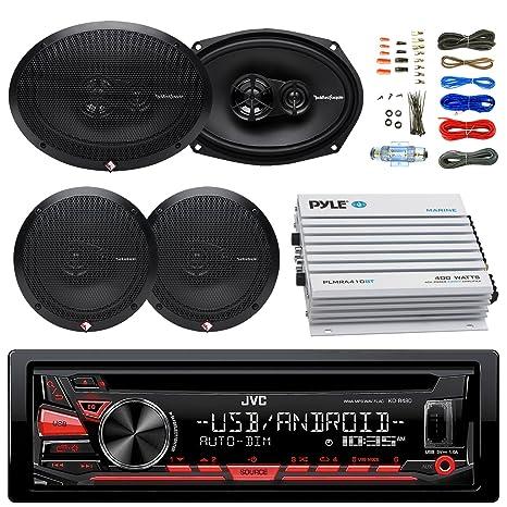 Amazon.com: JVC kdr480 Radio de coche USB Receptor AUX ...