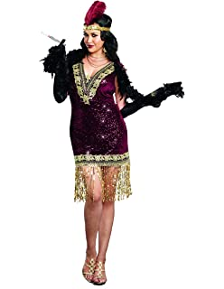 d421ad337ce Dreamgirl Women s Plus-Size Sophisticated Lady 1920s Flapper Party Costume