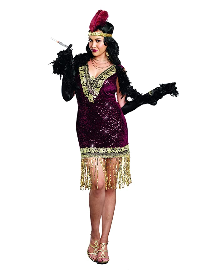 Amazon Dreamgirl Womens Plus Size Sophisticated Lady 1920s