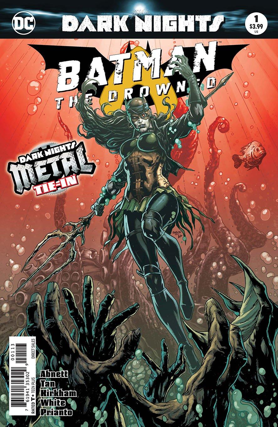 Batman The Drowned #1 3rd Printing Variant (DC, 2018) NM
