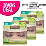 ECOTOOLS Naturally Beautiful Lash System Soft & Natural-looking Lashes (Pack of 3)