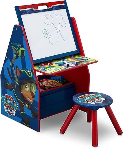 Delta Children Nick Jr. Patrulla Canina Deluxe Mesa de Arte, Caballete, Escritorio, Taburete y Organizador de Juguetes para niños: Amazon.es: Juguetes y juegos
