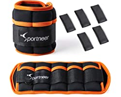 Sportneer Ankle Weights, 1 Pair 7 LBS Adjustable Weights Wrist Weight Straps for Gym,Fitness, Workout,Walking, Jogging| 0.5-3