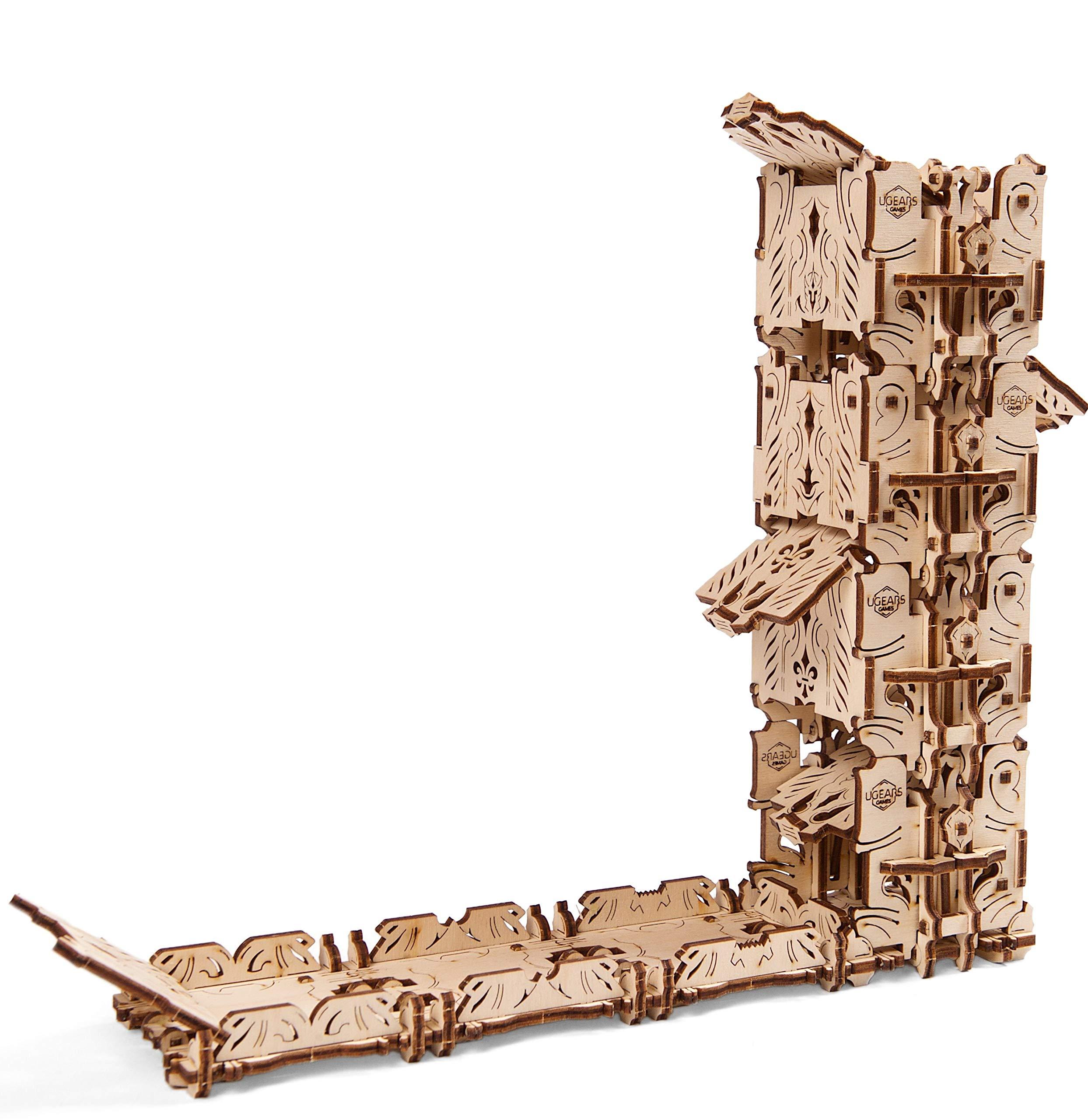 Ugears Modular Dice Tower, Wood Laser