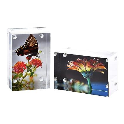 Amazon.com - 2-Pk Wallet Photo Sized Magnetic Photo Frame: Elegantly ...