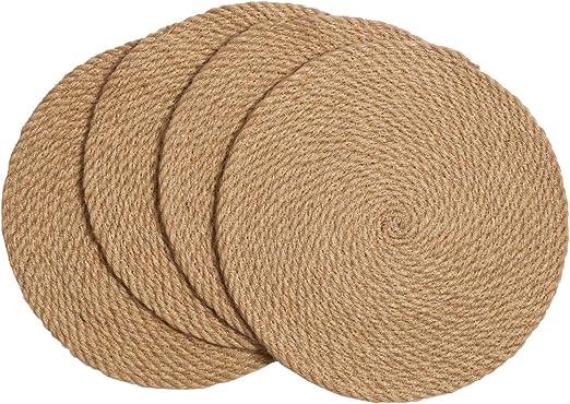 Round Straw Weave Placemat Kitchen Dinner Tablemat Place Mat Heat Resistant LA