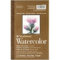 "Strathmore (298-103 400 Series Watercolor Pad, 5.5""x8.5"", 12 Sheets"