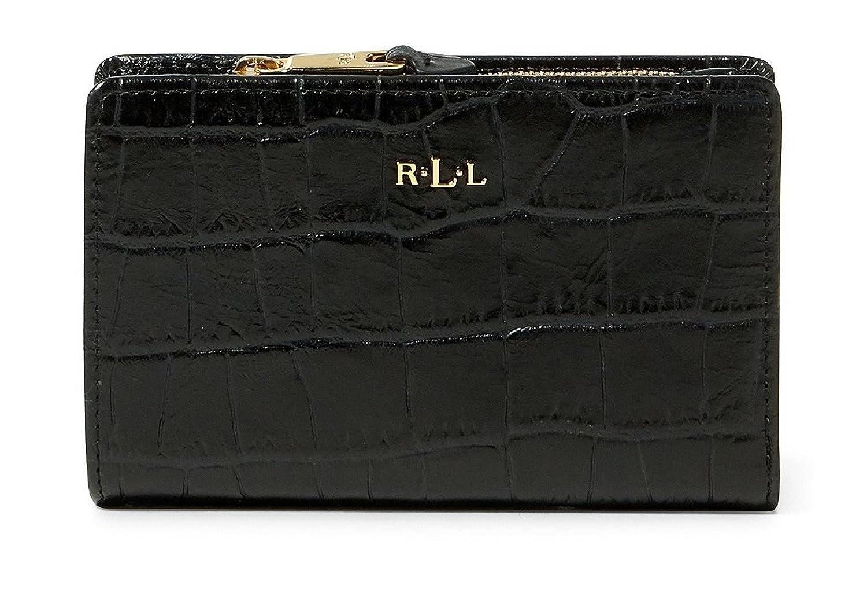 e75757fad6a LAUREN RALPH LAUREN Women s Embossed Newbury Compact Leather Wallet at  Amazon Women s Clothing store