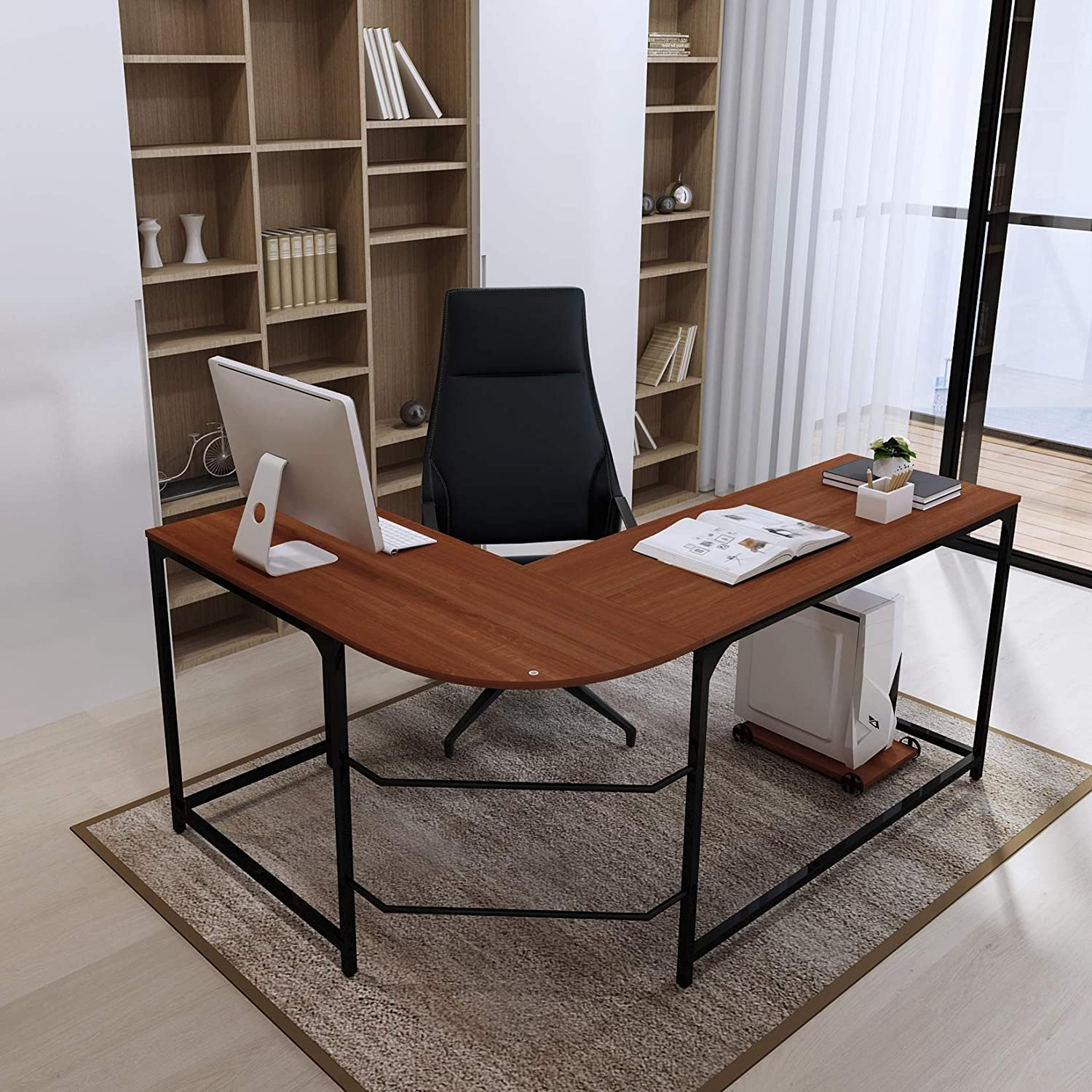 Miraculous Teraves L Shaped Reversible Gaming Computer Desk Modern Corner Desk Office Home Study Wood Table Small Teak Download Free Architecture Designs Oxytwazosbritishbridgeorg
