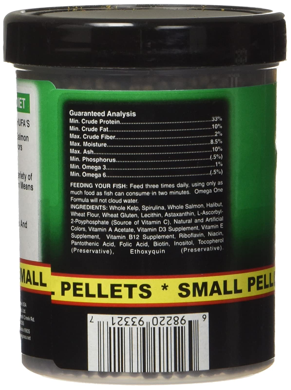 Omega One Super Veggie Pellets Small 3.5oz SHOMHNK004 - 3