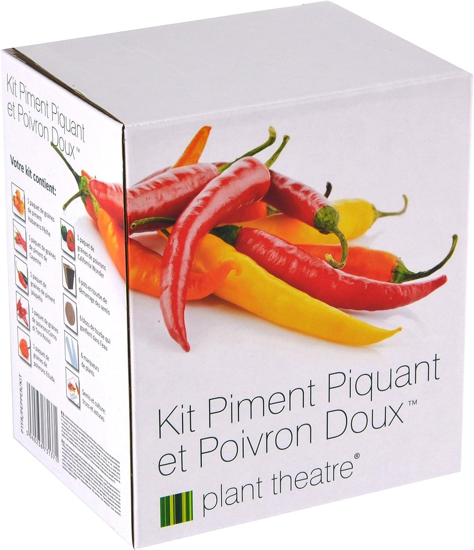 Kit Pimienta Picante y Pimienta Dulce por Planta Teatro - 6 Diferentes variedades para el Cultivo de uno Mismo - Idea de Regalo