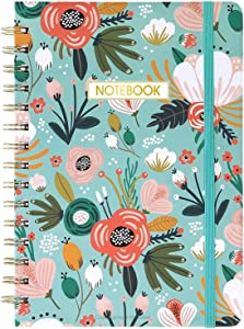 """Ruled Notebook/Journal - Lined Journal with Premium Thick Paper, 8.4"""" X 6.25"""", College Ruled Spiral Notebook/Journal, Banded with Exquisite Inner Pocket, Hardcover"""