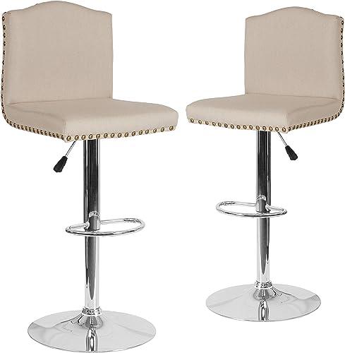 Flash Furniture 2 Pk. Bellagio Contemporary Adjustable Height Barstool