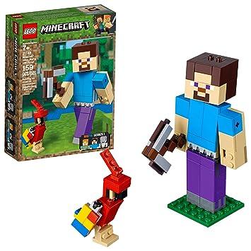 21a3be3608b6 LEGO MINECRAFT-21148-BIG FIG STEVE COM PAPAGAIO: Amazon.com.br ...