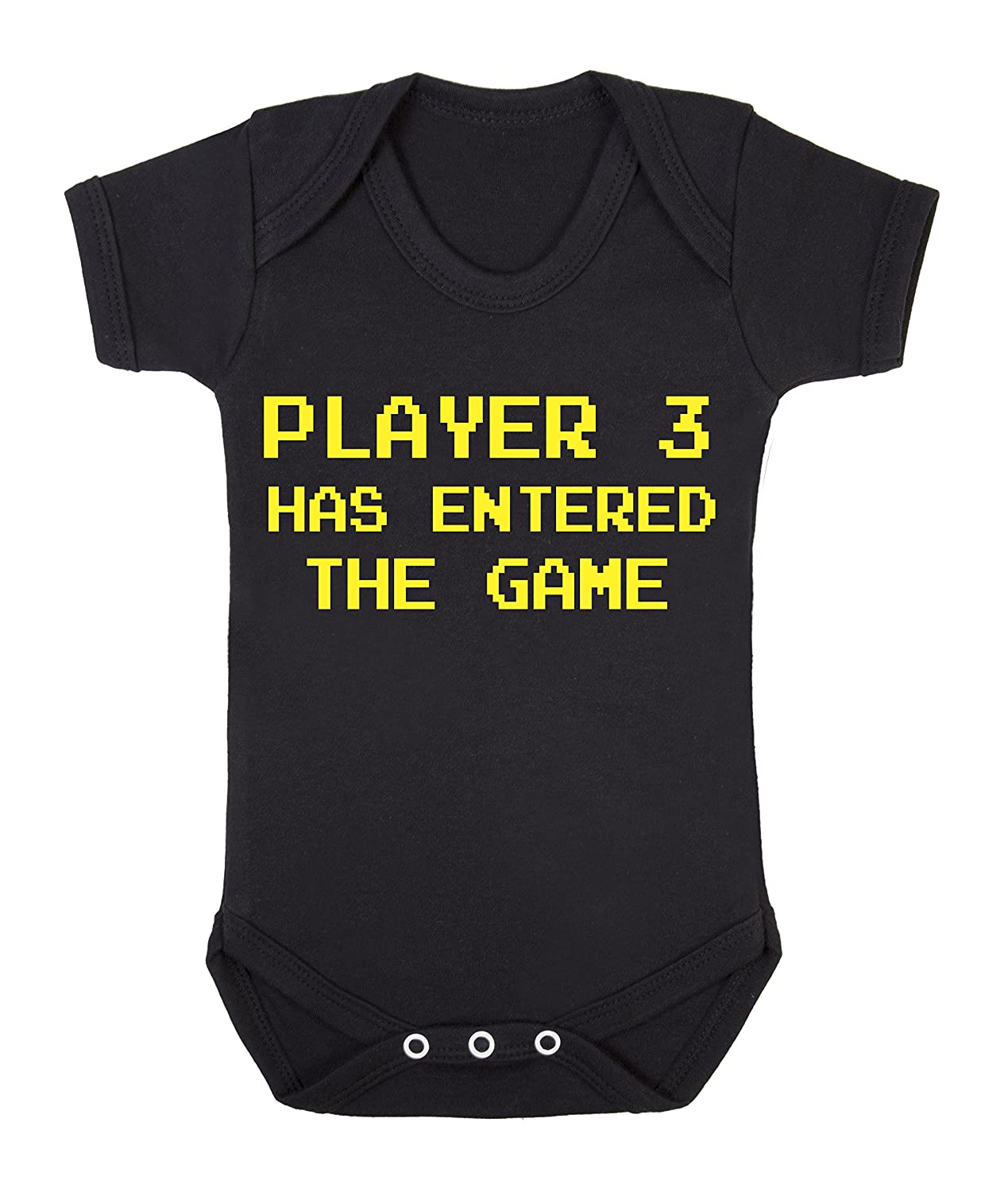 87aaf5c9fa9 Player 3 has entered the game funny babygrow onesie (0-3 months)