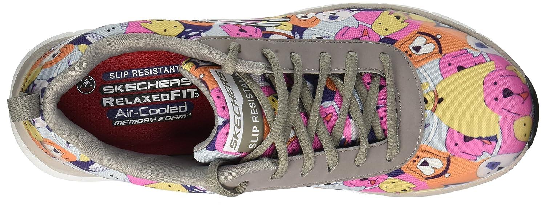 Skechers Women's Comfort Flex HC Pro SR Health Care Service Shoe B079JHLSY8 5.5 W US|Gray/Multi