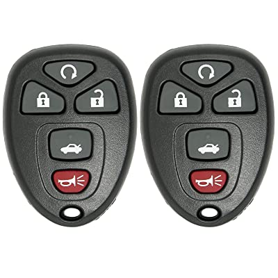 Keyless2Go 2 New Replacement Keyless Entry Remote Start Car Key Fob for 22733524 KOBGT04A Malibu Cobalt G5 G6 Grand Prix Lacrosse Allure: Automotive