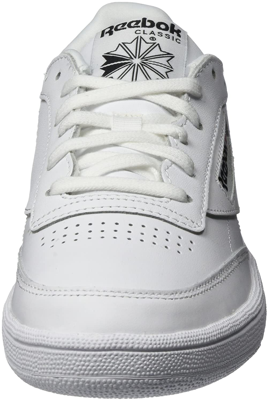 Reebok Damen Club C Tennisschuhe, 85 Emboss Tennisschuhe, C Bianco Elfenbein (Weiß/schwarz) 5184be