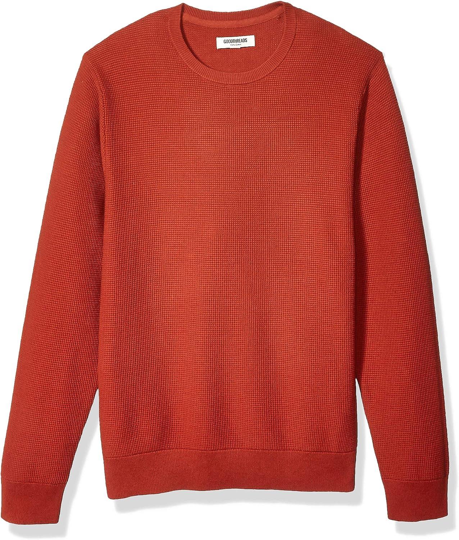 Amazon Brand - Goodthreads Men's Soft Cotton Thermal Stitch Crewneck Sweater