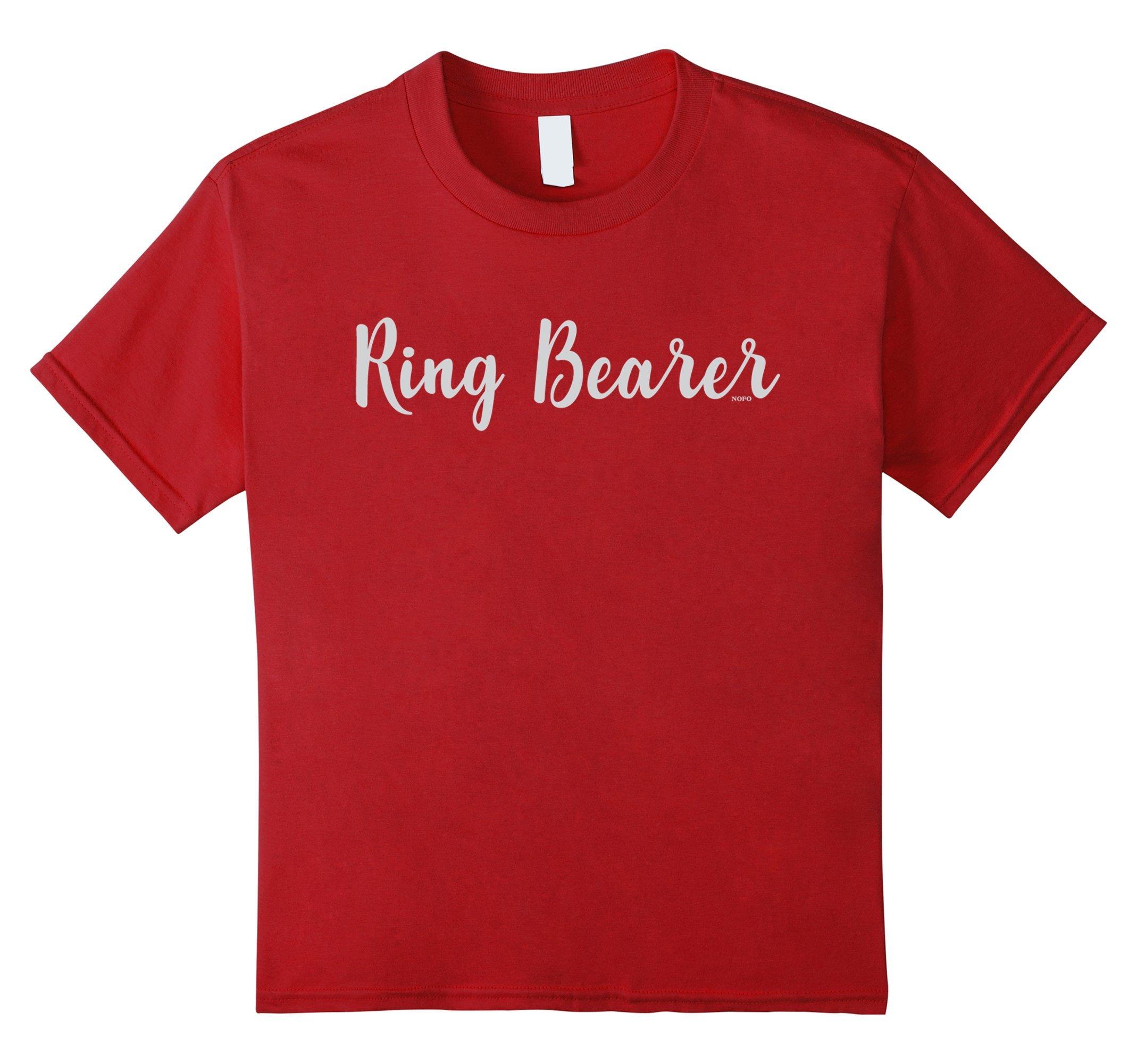 Kids Ring Bearer, Wedding Party, Bachelorette T-Shirt 8 Cranberry