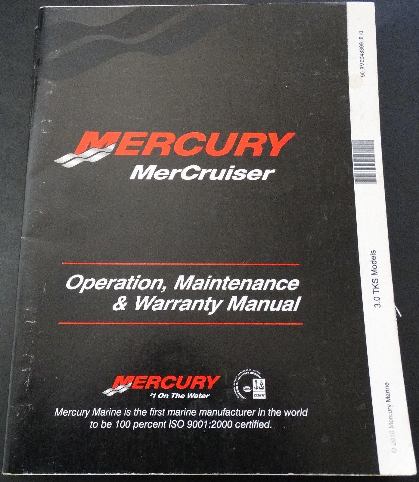 2011 MERCURY MERCRUISER 3.0 TKS OPERATORS MANUAL 90-8M0048399 (210): MERCURY:  Amazon.com: Books