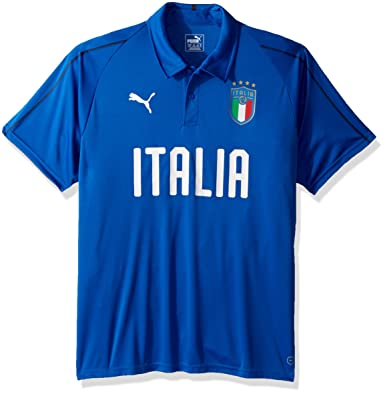 PUMA Men s FIGC Italia Polyester Polo at Amazon Men s Clothing store  f341c3854b91