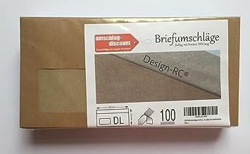 100 Briefumschläge Mit Fenster Design Rc Aus Recycling Papier Mit