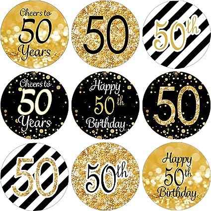 Amazon.com: 50th fiesta de cumpleaños decoraciones – Oro ...