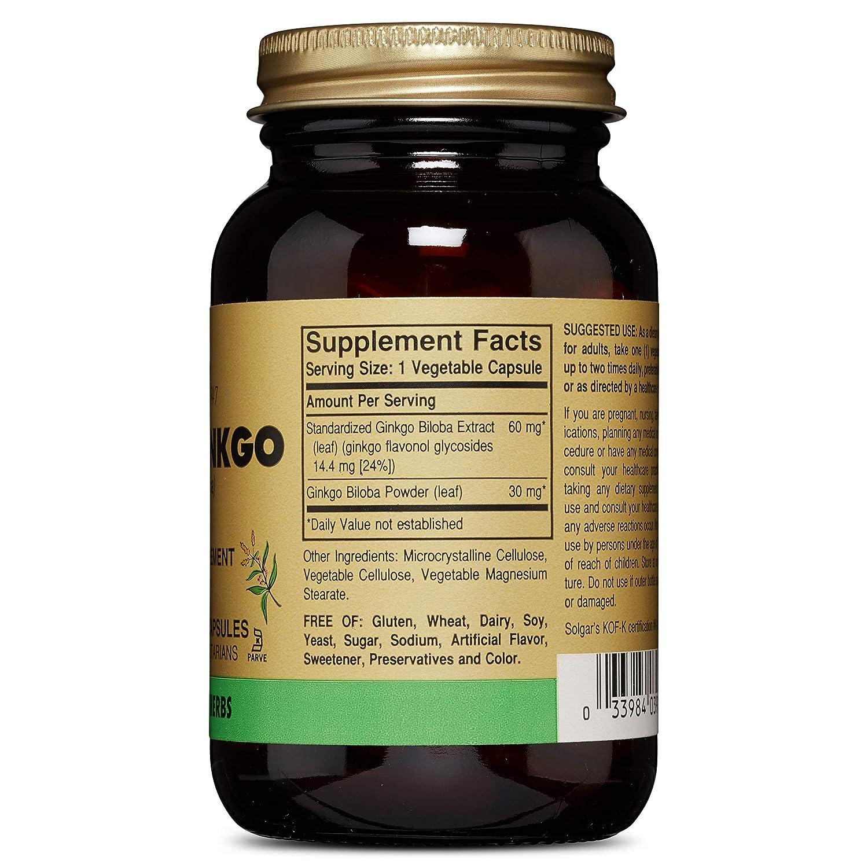 Solgar – Full Potency Super Ginkgo, 120 Vegetable Capsules