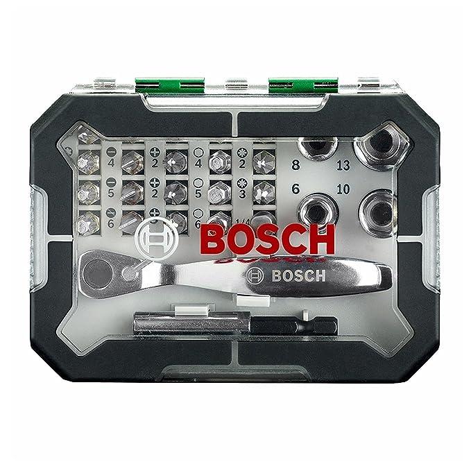 Bosch Juego de puntas y juego de trinquete destornillador Kit de ...