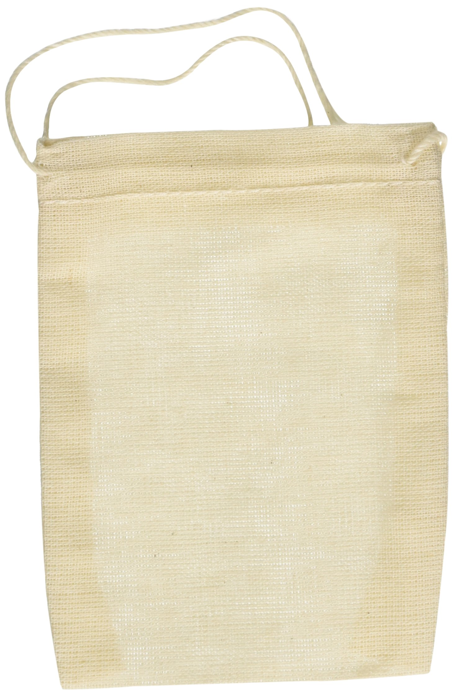 1 X Cotton Muslin Bags 3x4 Inch Drawstring 50 Count Pack