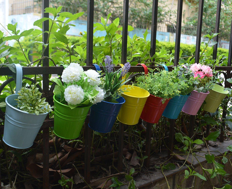Amazoncom RIOGOO Flower Pots Hanging Flower Pots