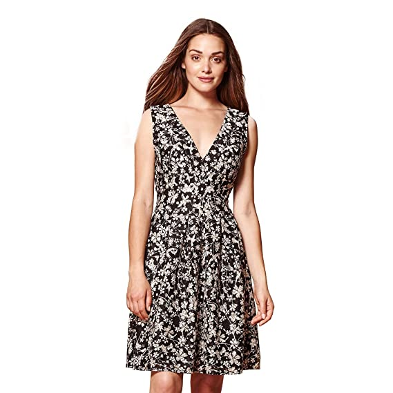 afaa2a5c YUMI Lace Floral Print Dress: Amazon.co.uk: Clothing