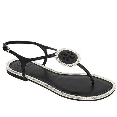 b54dbb1bae60 Tory Burch Women s Miller Fringe Thong Strap Sandal Leather (7