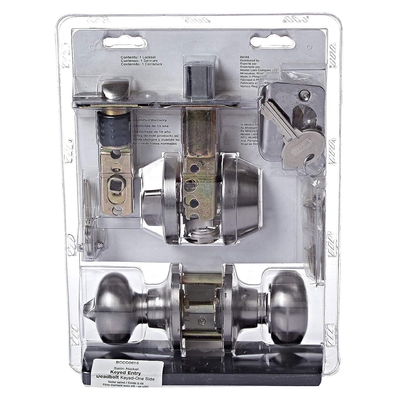 Master Lock BCCO0615 Entry/Deadbolt Satin Nickel - Doorknobs - Amazon.com