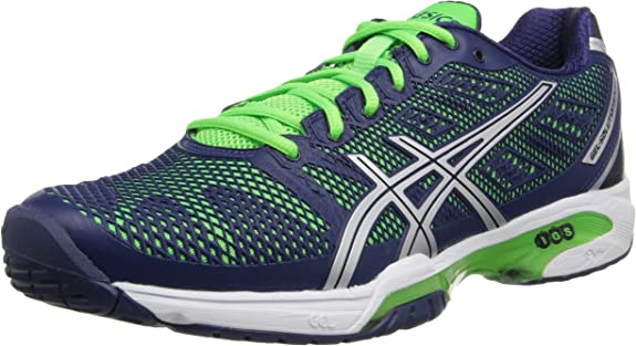 Puñado bandera nacional Categoría  Asics Men's Gel-Solution Speed 2 Tennis Shoe, Navy/Silver/Neon Green, 15 M  US | Tennis & Racquet Sports - Amazon.com