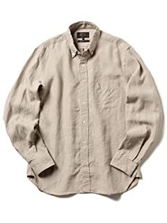 Linen Buttondown Shirt 11-11-5200-139: Beige