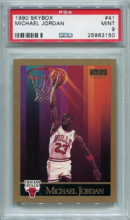 dc0469da5e079a 1990 Skybox Michael Jordan Chicago Bulls  41 PSA 9 MINT (Graded Basketball  Cards)