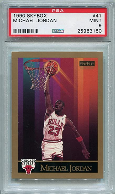 68d7948b2b8 1990 Skybox Michael Jordan Chicago Bulls  41 PSA 9 MINT (Graded Basketball  Cards)