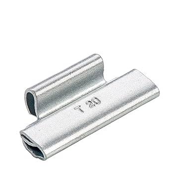 100x Pesos de equilibrado ruedas Tipo187 20g plata Hofmann Power Weight | Contrapesos de equilibrio para llantas acero: Amazon.es: Coche y moto
