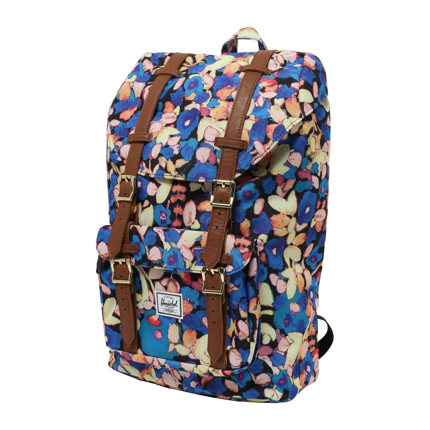 デイパック HERSCHEL ハーシェル 9111160 Little America Mid-Volume 9111160 PaintedFloralTanSyntheticLea O   B07QLS16J4