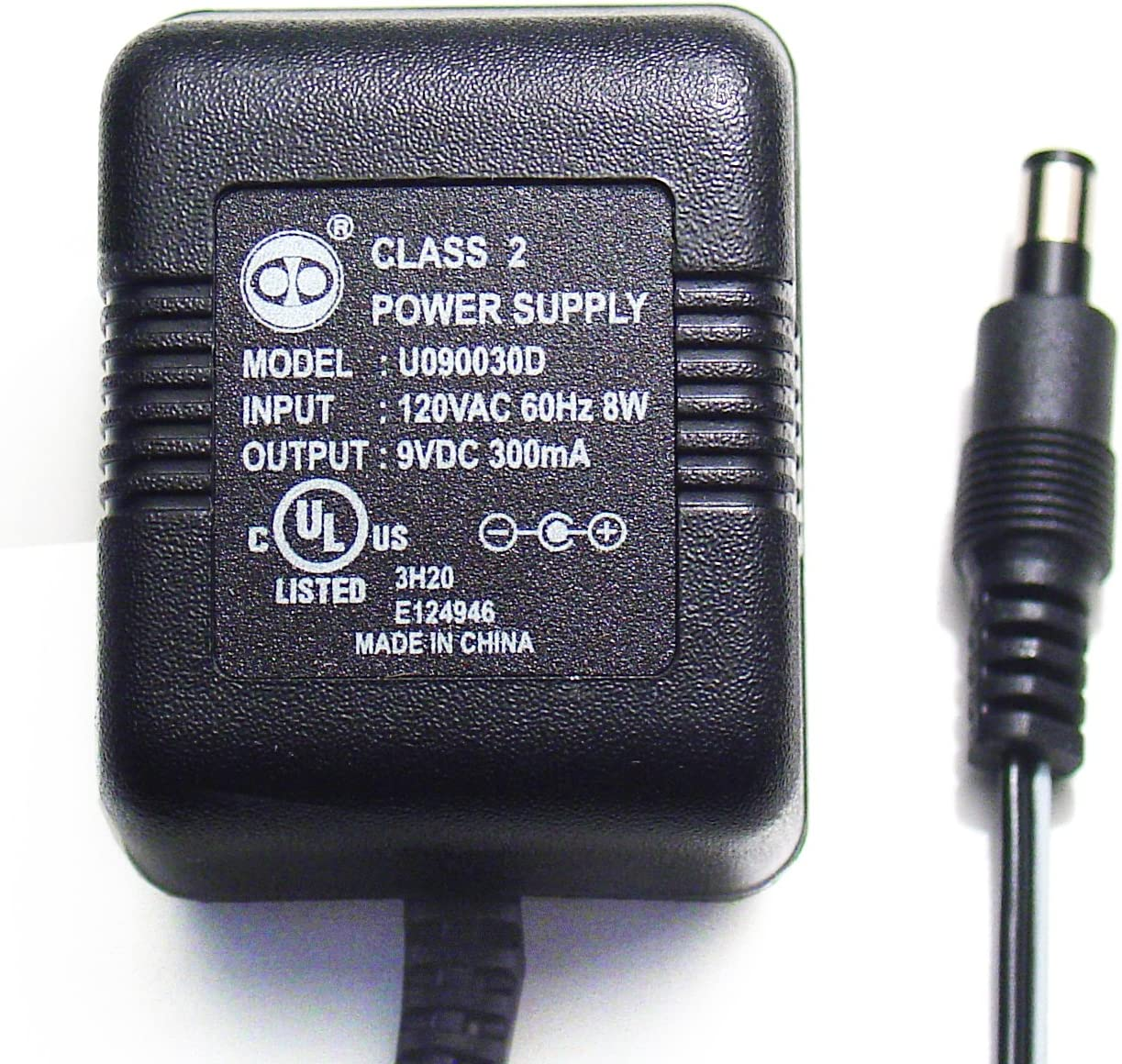 AC-DC ADAPTER 12 VOLTS DC @ 300mA 2.5mm DC POWER PLUG WITH POSITIVE CENTER